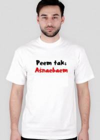 Koszulka Aśnaebaem - biała