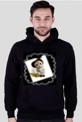 bluza z kapturem kot w butach