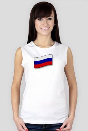 Koszulka damska, flaga rosyjska, Rosja