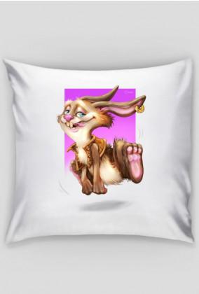 Zajączek Różowy poduszka