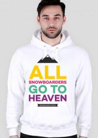 Bluza męska z kapturem - ALL SNOWBOARDERS GO TO HEAVEN (LIMITOWANA EDYCJA!)