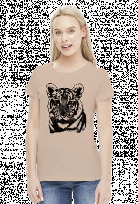 Koszulka z tygrysem damska