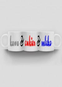 Kawa, cukier i mleko