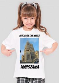 Discover the World - Warszawa Koszulka dla dziewczynki