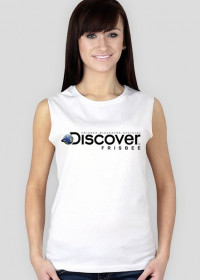 Koszulka damska (bez rękawów) - DISCOVER THE FRISBEE