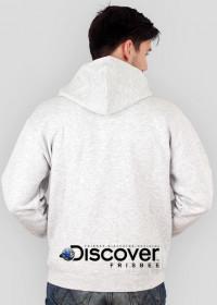 Bluza męska z kapturem (rozpinana) - DISCOVER THE FRISBEE