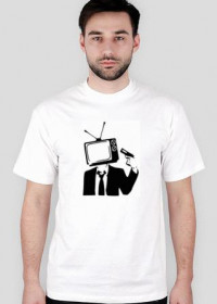 No TV - koszulka biała męska