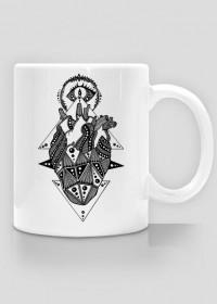 Black Art Heart Cup