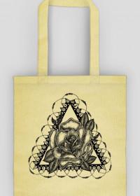 Black Art Rose Bag