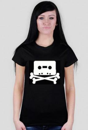 Piracka kaseta - koszulka damska