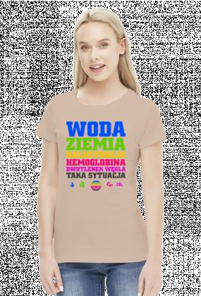 Woda Ziemia Halucynacja Dwutlenek Węgla Taka Sytuacja v2 (by Szymy.pl) - jasna damska