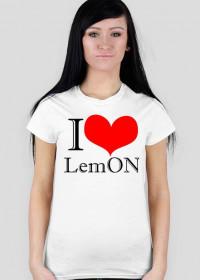damska biała koszulka LemON