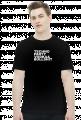 Koszulka męska TECHNO PARTY czarna.