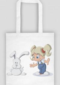 Torba na zakupy - dziewczynka z królikiem