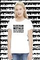 Słucham metalu ale w czarnym jest mi gorąco - koszulka damska